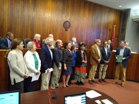 Oak Ridge presented ORCMA a proclamation